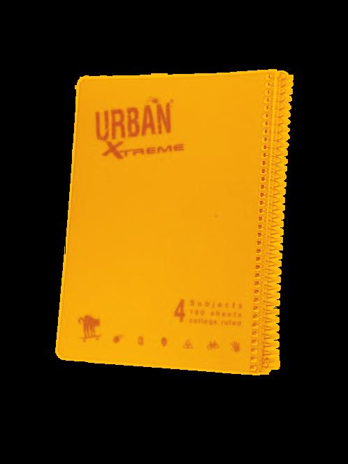 מחברת ספירל A4 אורבן 4 נושאים משובץ URBAN