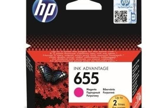 דיו מקורי HP 655 אדום