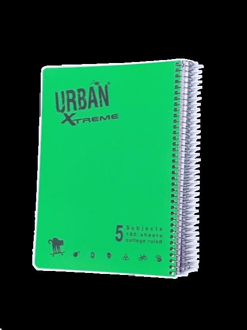 מחברת ספירל A4 אורבן 5 נושאים שורה URBAN
