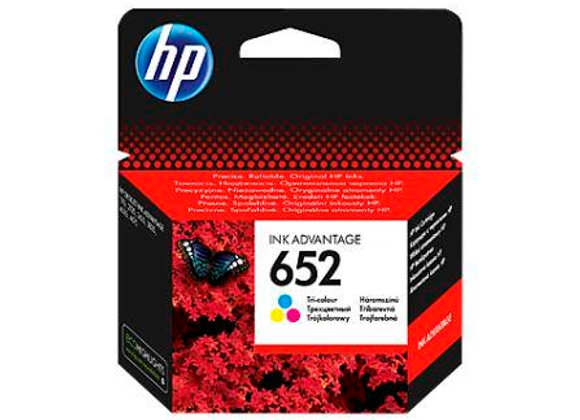 דיו מקורי HP 652 צבעוני
