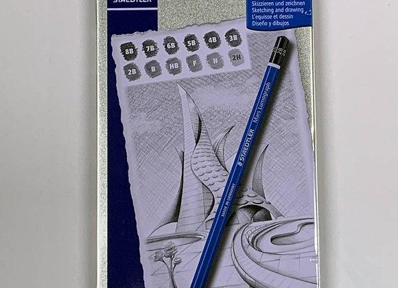 סט 12 עפרון שרטוט Staedler Mars Lumograph
