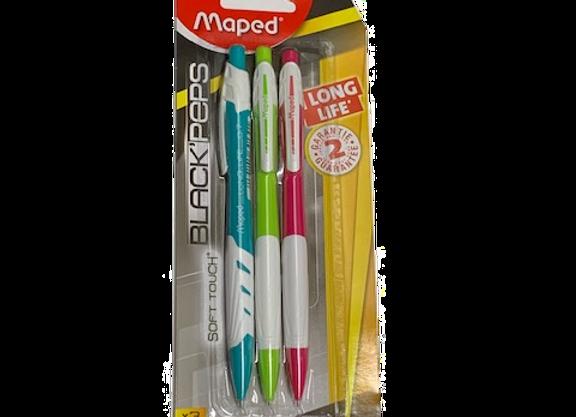 סט 3 עפרון מכני 0.7 Maped