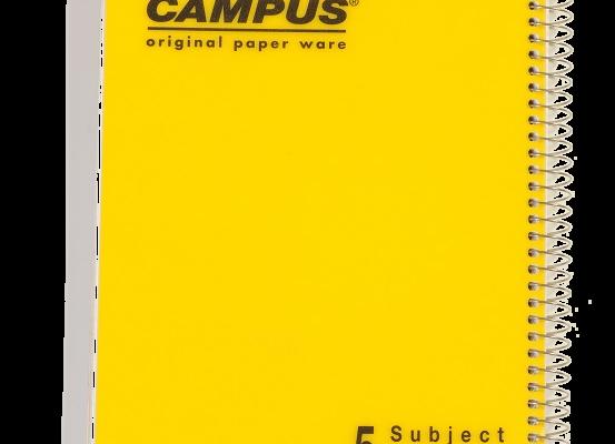 מחברת ספירל A4 קמפוס 5 נושאים שורה CAMPUS