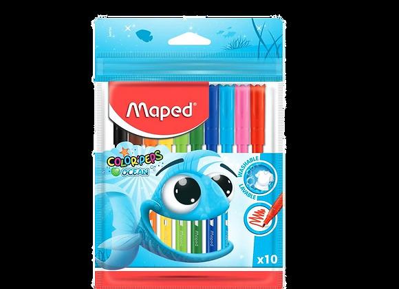 סט 10 טושים צבעוניים Maped Colorpeps
