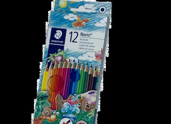 סט 12 עפרון צבעוני שטדלר STAEDLER