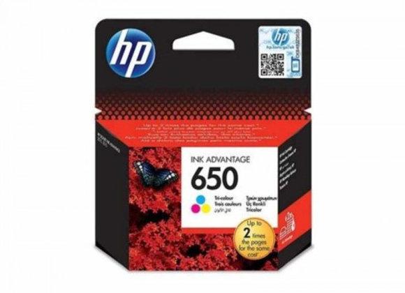 דיו מקורי HP 650 צבעוני