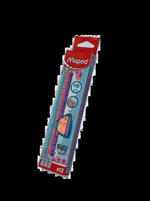 חב' עפרון אורטופדי + מחק MAPED פסטל