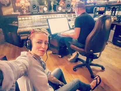 Creating some🎼 #magical #musica  _danielpinnella #recordingartist #badass #studio #recordingsession #record #musicstudio #flipflops #🎸