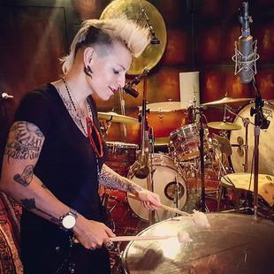 #drumming some #magic with #timpani at the #recordingstudio #viking #spirit #providence #cyn