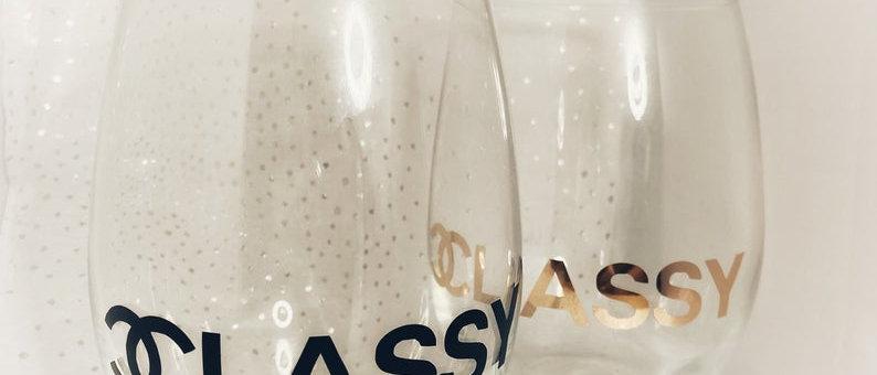 CC Classy Wine Glass