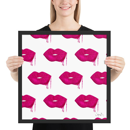 Lip Pattern Framed Poster