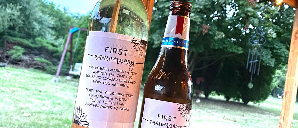 Year of Firsts Wine/Beer Labels