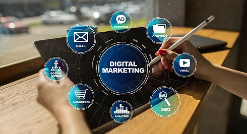 DIgital marketing technology concept_ In