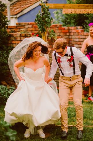 Bristol Couple Jump the Broom