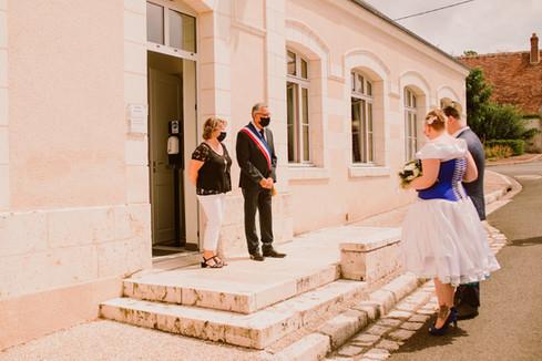 A Covid Wedding, the couple waiting their turn