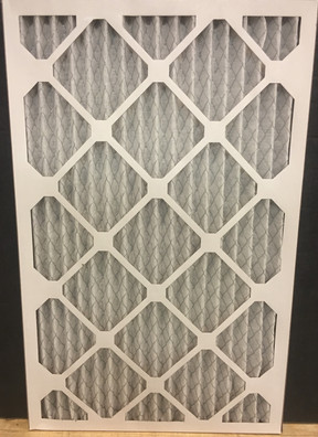 Picture of a pleated air filter.