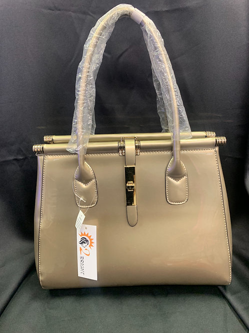 Pewter Patent Leather Purse