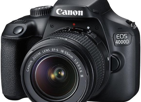 מצלמה DSLR קנון CANON EOS 4000D + 18-55 - קיט