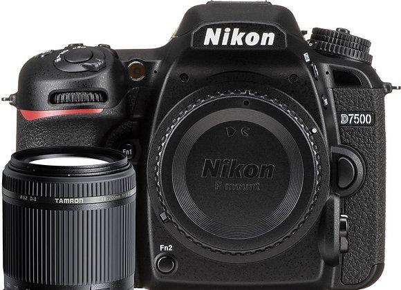 Nikon D7500 + TAMRON 18-200 VC - קיט DSLR מצלמת ניקון