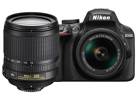 Nikon D3400 18-105mm lens kit - קיט DSLR מצלמת ניקון
