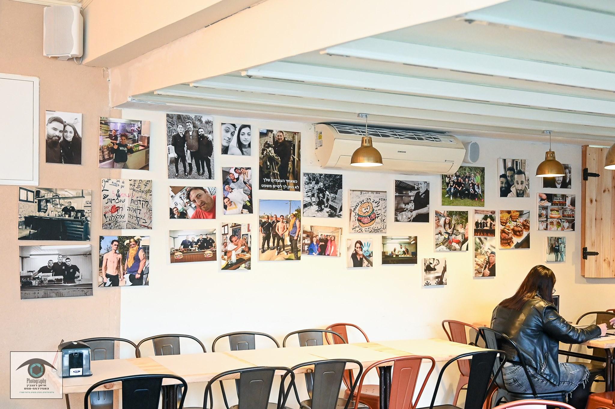 בקיר במסעדת קציצה עגלגלה