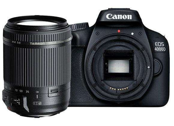 מצלמה DSLR קנון CANON EOS 4000D + TAMRON 18-200 VC - קיט