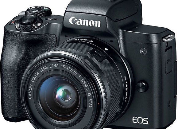 מצלמה חסרת מראה קנון CANON EOS M50 + 15-45mm - קיט