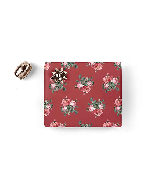Red Floral ~ Gift Wrapping