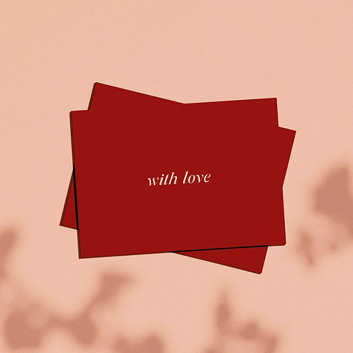 With Love ~ Gift Card