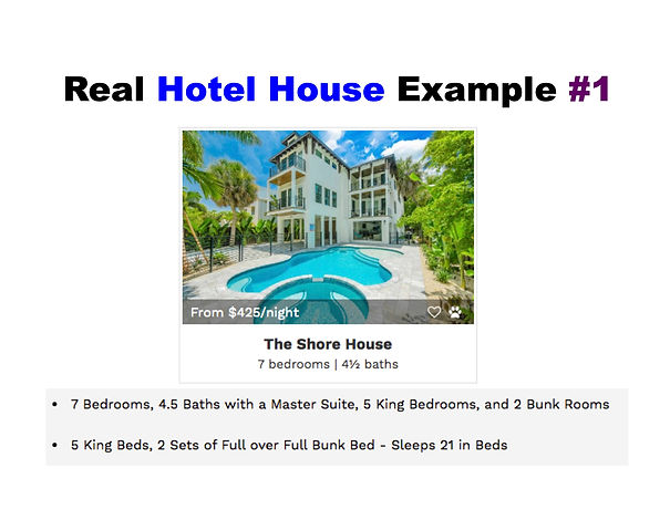 3 - Slide - Hotel House Example - Sleeps