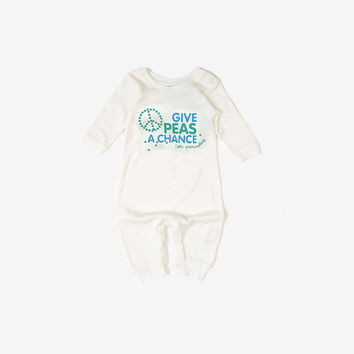Little Green Radicals Give Peas A Chance Romper
