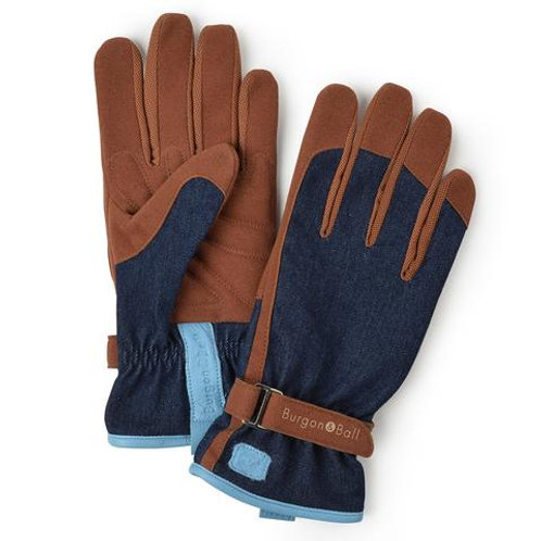 B&B Men's Gardening Gloves | Denim