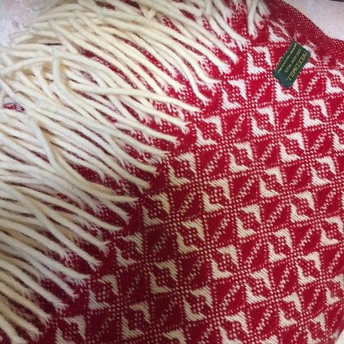 Tweedmill   Red Wool Treetop Blanket