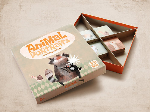 Marbushka Animal Portraits Memory Game