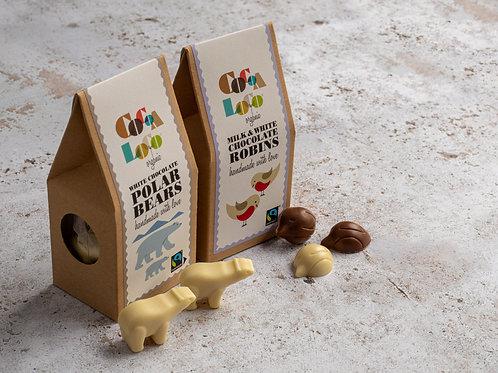Cocoa Loco Milk & White Chocolate Robins