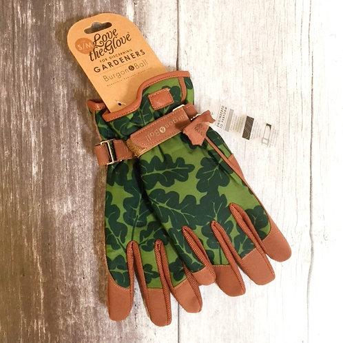 B&B Women's Gardening Gloves   Oak Moss