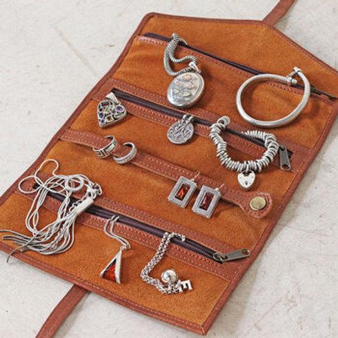 Scaramanga Leather Jewellery Roll