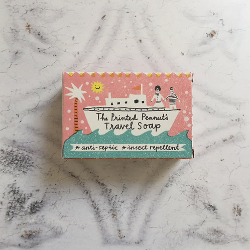 Printed Peanut Travel Soap Bar