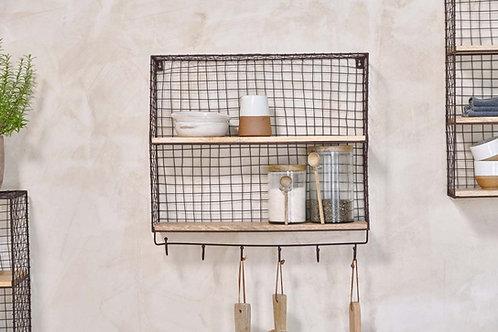 Nkuku Tamba Shelf with Hooks