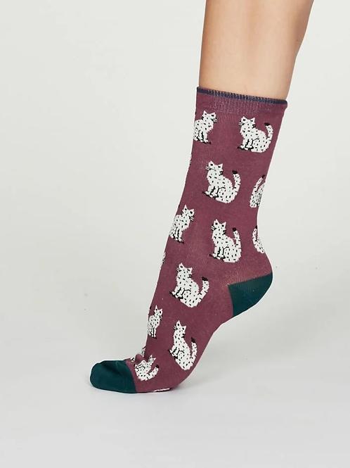 Thought Womens Kitty Bamboo Socks