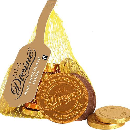 Divine Milk Chocolate Coins