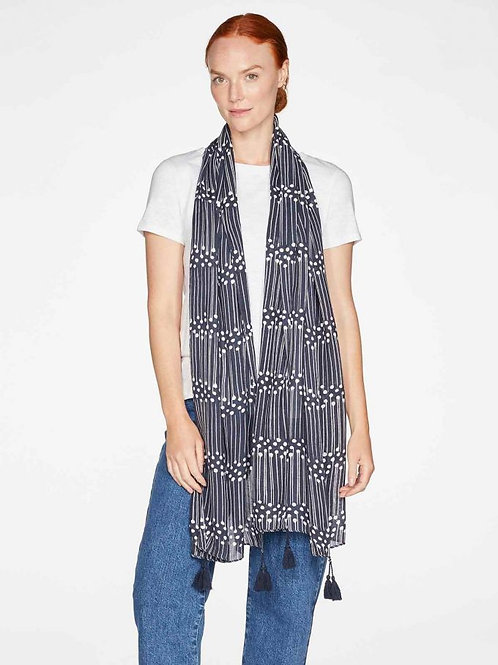 Thought Aspen Printed Bamboo Scarf | Mid Blue