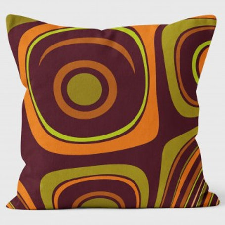 Abstract Cushion Cover | Tangerine Glow