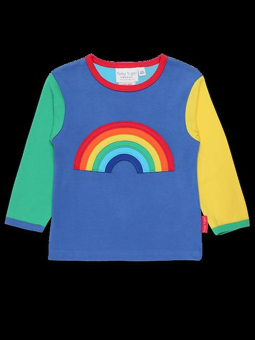 Toby Tiger Rainbow Applique Top