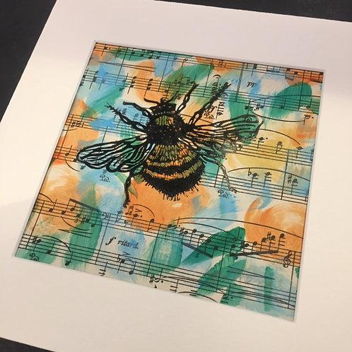 Lynda Thomas Lino Cut Bumble Bee