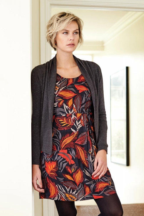 Nomads Printed Asymmetric Pleat Tunic Dress