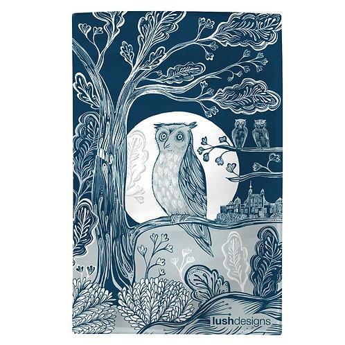 Lush Design Tea Towel | Moonlit Owl