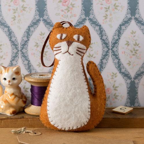Wool Mix Felt Craft Kit | Ginger Cat