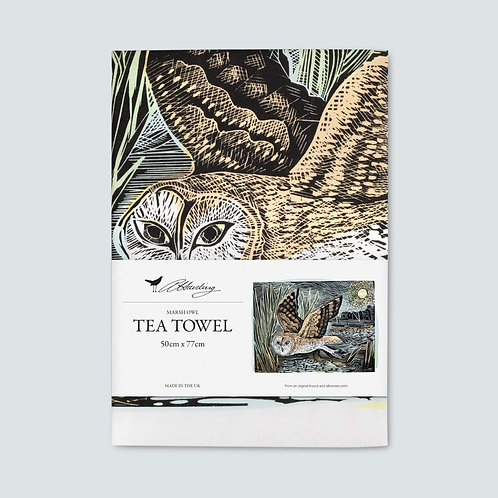 Angela Harding Tea Towel | Marsh Owl