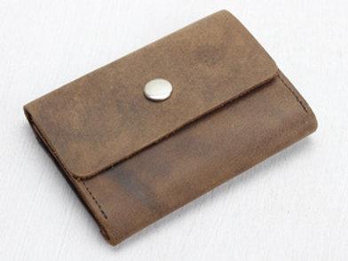 Scaramanga Brown Leather Mini Wallet